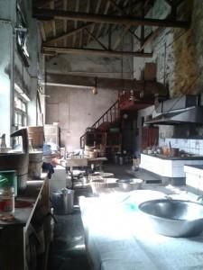 Inside the main kitchen.