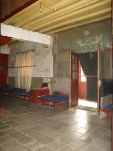 Inside the east meditation hall.